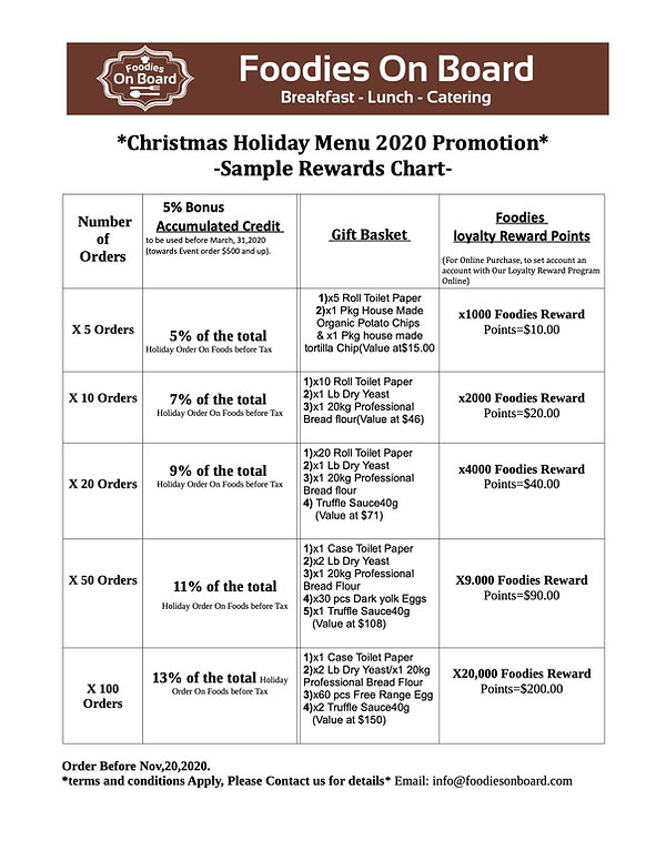 Christmas Holiday Menu 2020 Promotion-Ch