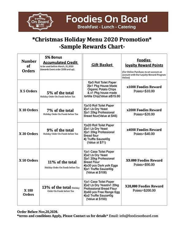 Christmas Holiday Menu 2020 Promotion-Ch