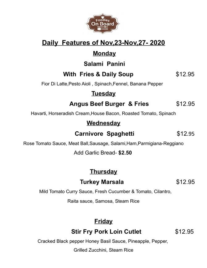 Daily Feature Nov,23-Nov,27,2020