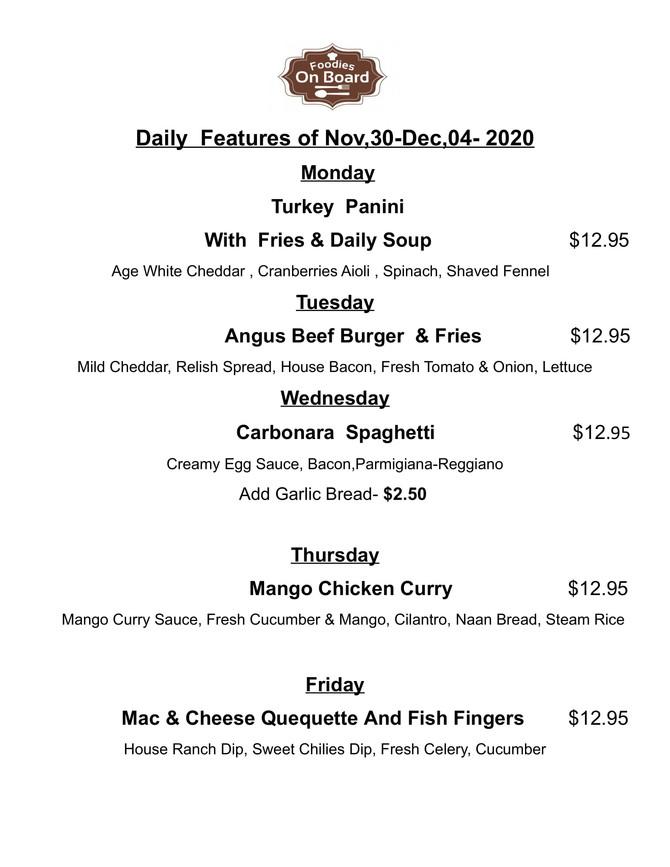 Daily Feature Nov,30-Dec,04,2020