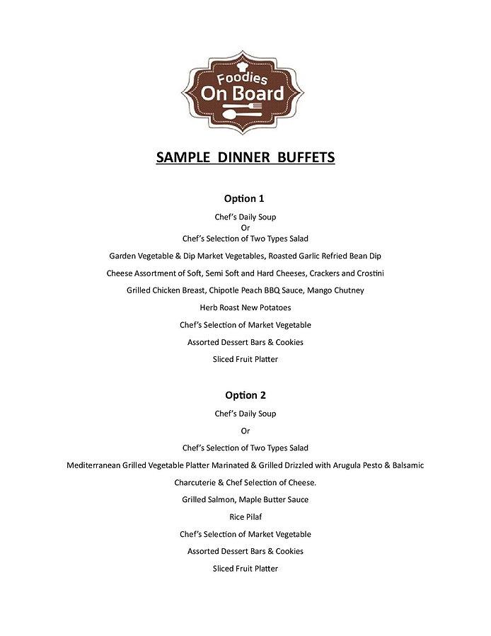 2019 Sample Dinner Buffet Menus with Enh