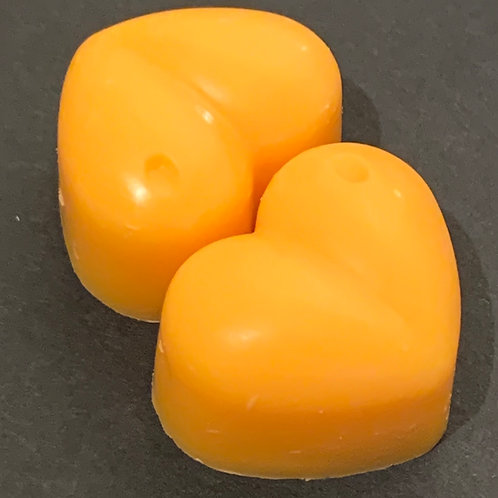 2 x Orange Sample Hearts