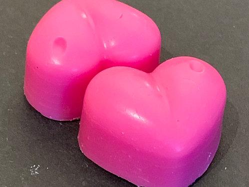 2 x Strawberry & Rhubarb Sample Hearts