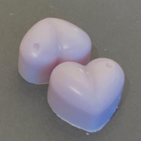 2 x Ultra Violet Sample Hearts