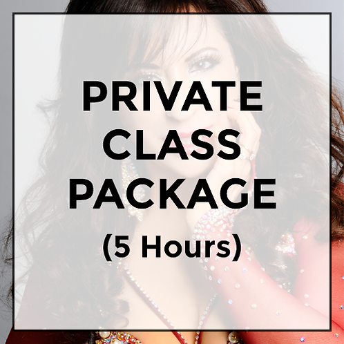 Private Class Package (Valid for 5 hours of instruction).