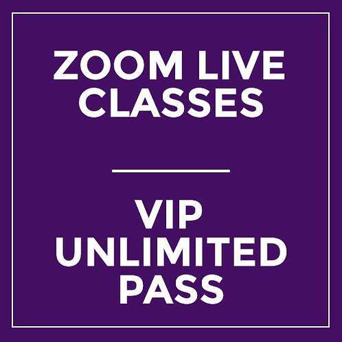 VIP Unlimited Pass - Live via Zoom (16 Classes!)