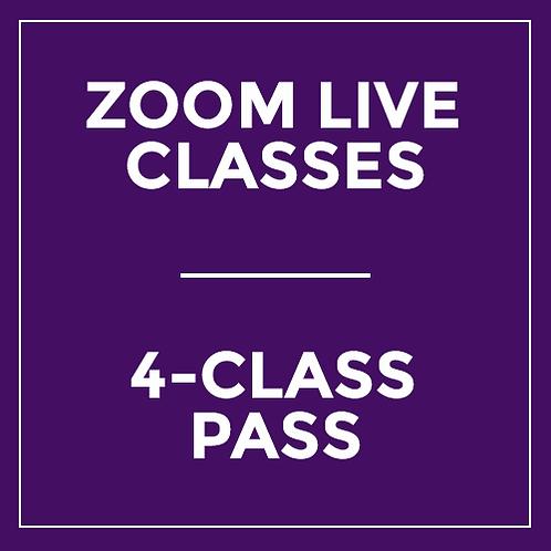 4-Class Pass - Live via Zoom