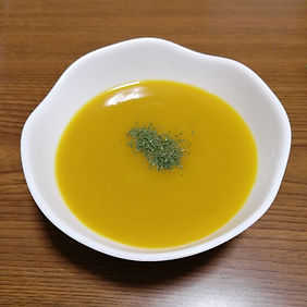 お餅かぼちゃスープ