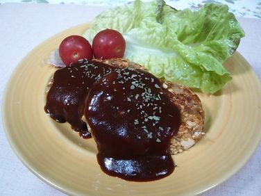 豆腐ハンバーグ(肉、小麦、玉子、牛乳無)