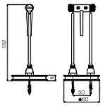 Dimension spot sans fil Petit Héron H102mm Ø50