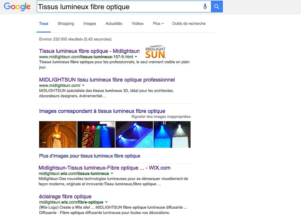 Tissus lumineux fibre optique
