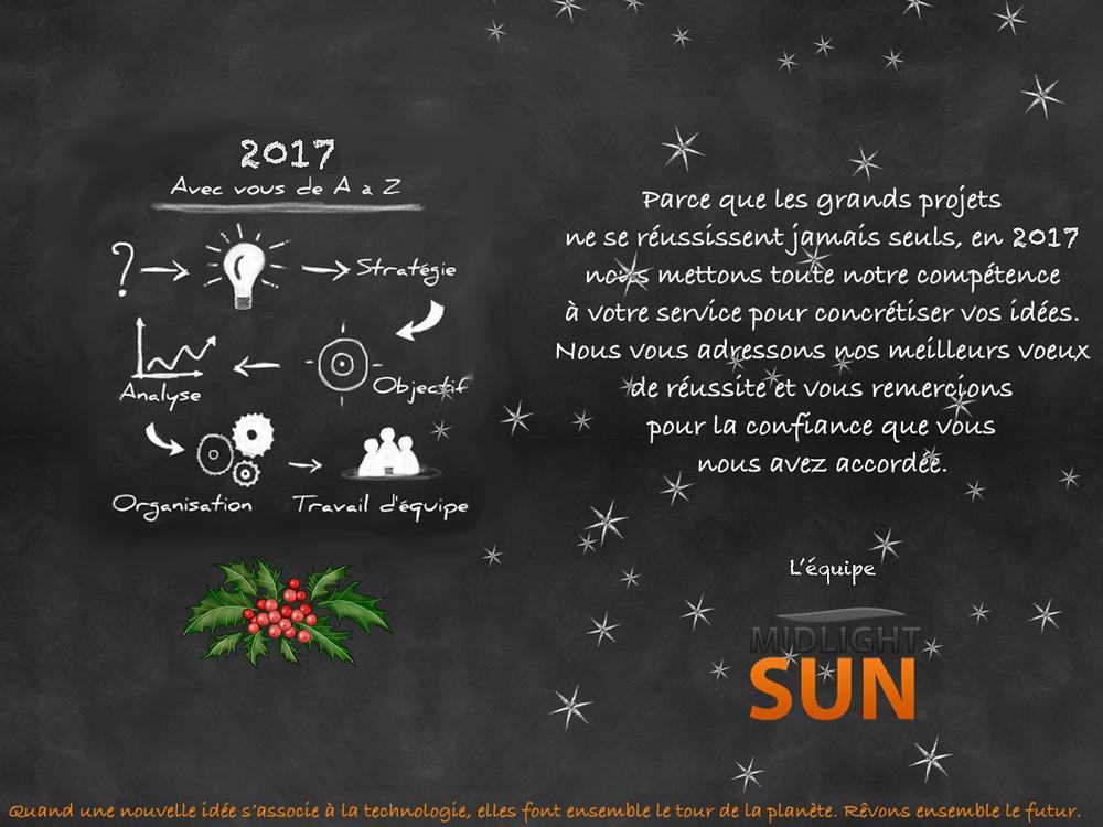 Toute l'équipe MIDLIGHTSUN vous souhaite une bonne année lumineuse