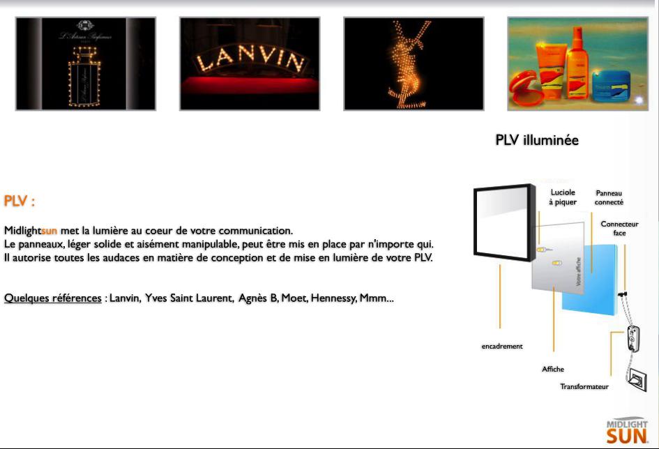 éclairage leds sans fil : communication lumineuse, PLV lumineuse, marketing