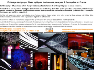 Éclairage & décoration par la fibre optique diffusante - MIDLIGHTSUN