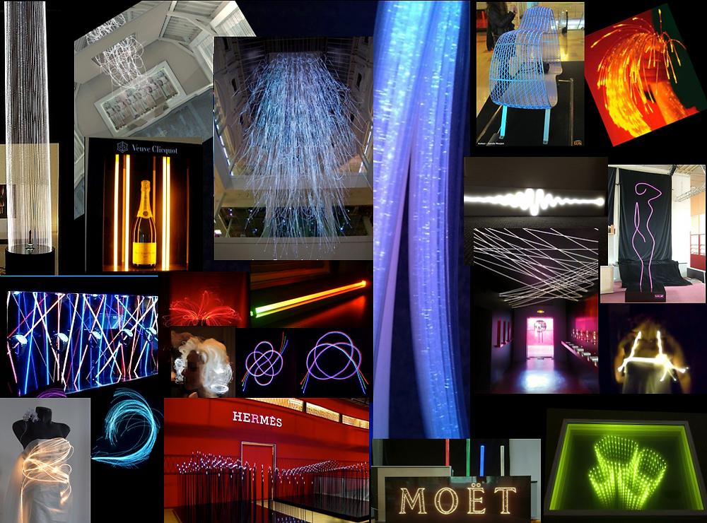 éclairage fibre optique