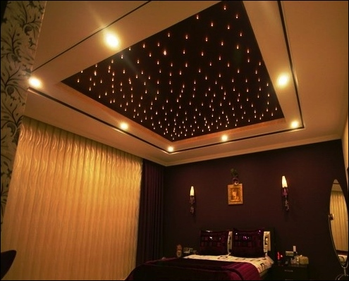 Ciel étoilé dans une chambre