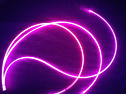 Câble fibre optique diffusante