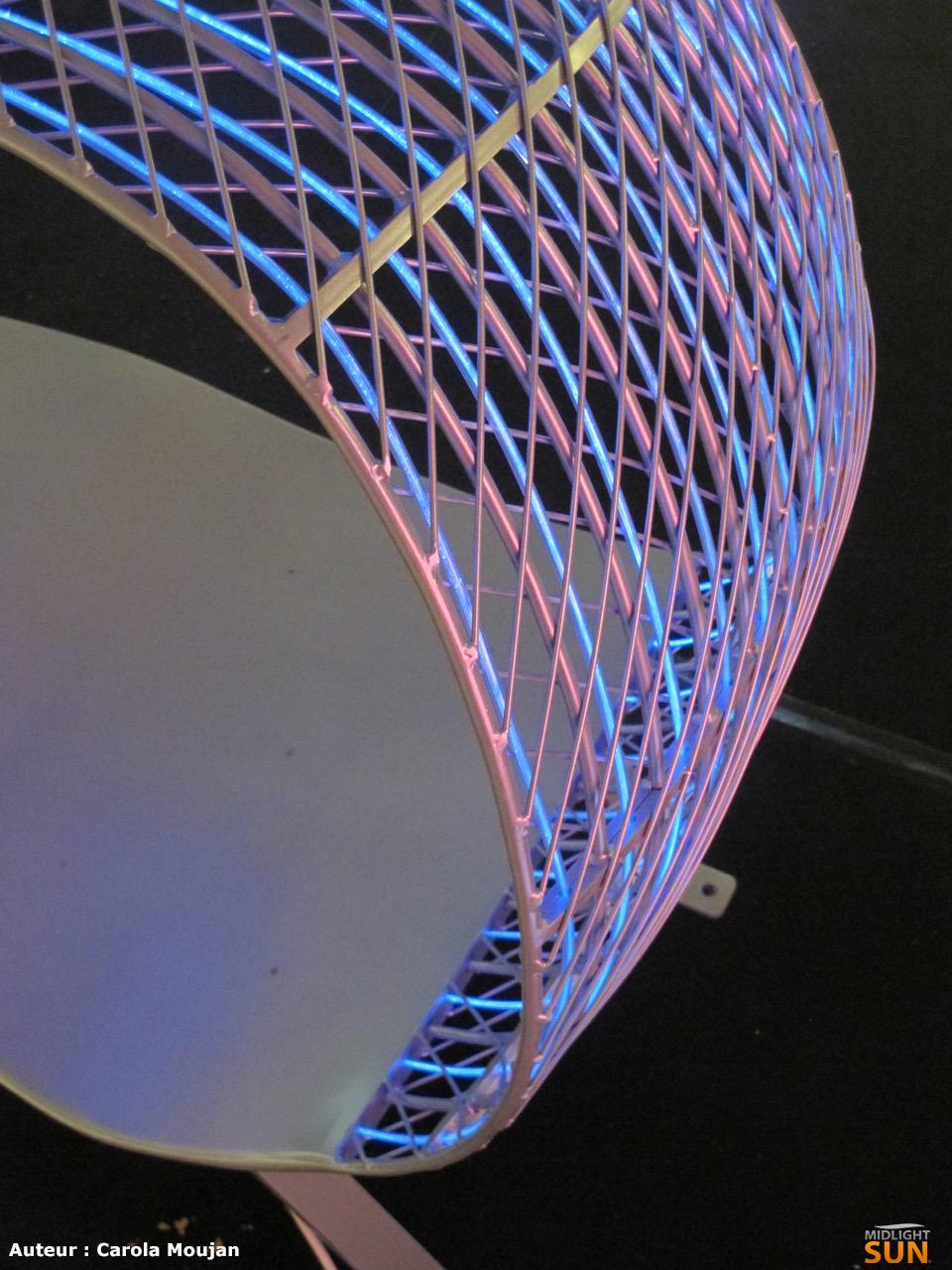 Banc Design lumineux en fibre optique