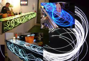 La fibre optique diffusante - éclairage, décoration, signalisation...