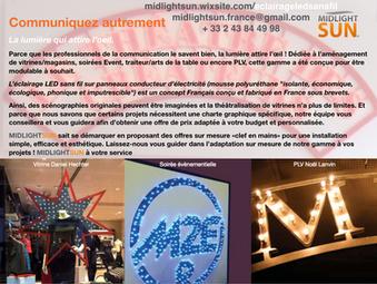 Communiquez autrement : éclairage LED sans fil - MIDLIGHTSUN - conçu et fabriqué en France