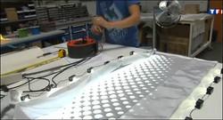 tissu lumineux tissé fibres optique