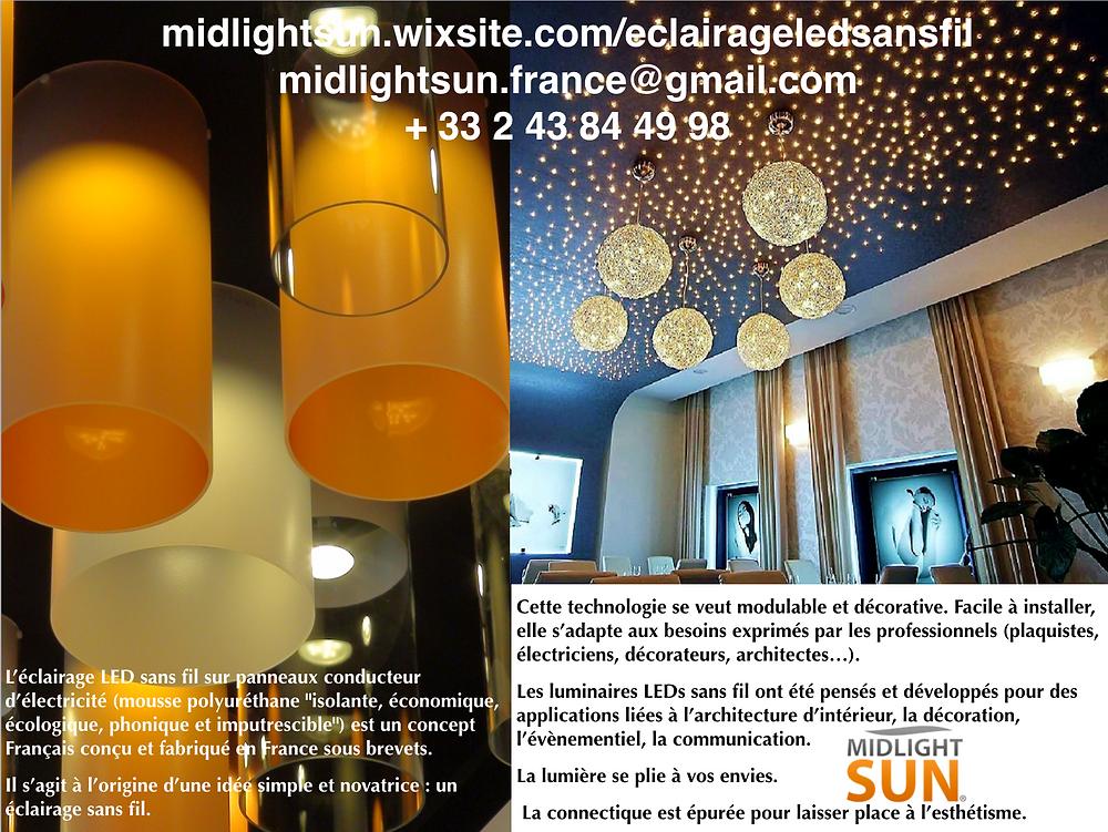 L'Éclairage LED sans fil nouvelle technologie modulable et décorative