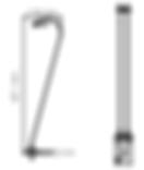 Dimension spot sans fil Cygne H421mm Ø50