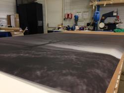 Impression sur toile encollage tissu