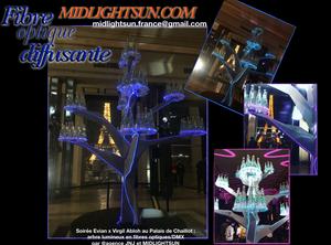 sculpture lumineuse en fibre optique diffusante