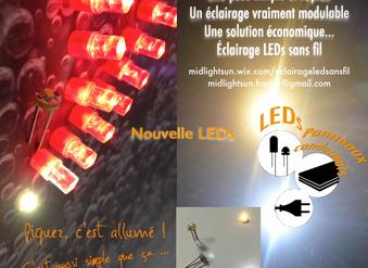 Éclairage LEDs sans fil, un concept simple & modulable. Nouvelles LEDs