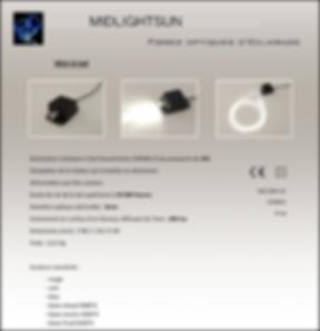 Éclairage fibre optique diffusante : générateur 2W