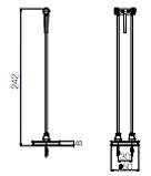 Dimension spot sans fil Grand Héron H242mm Ø50
