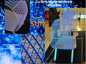 la fibre optique lumineuse diffusante