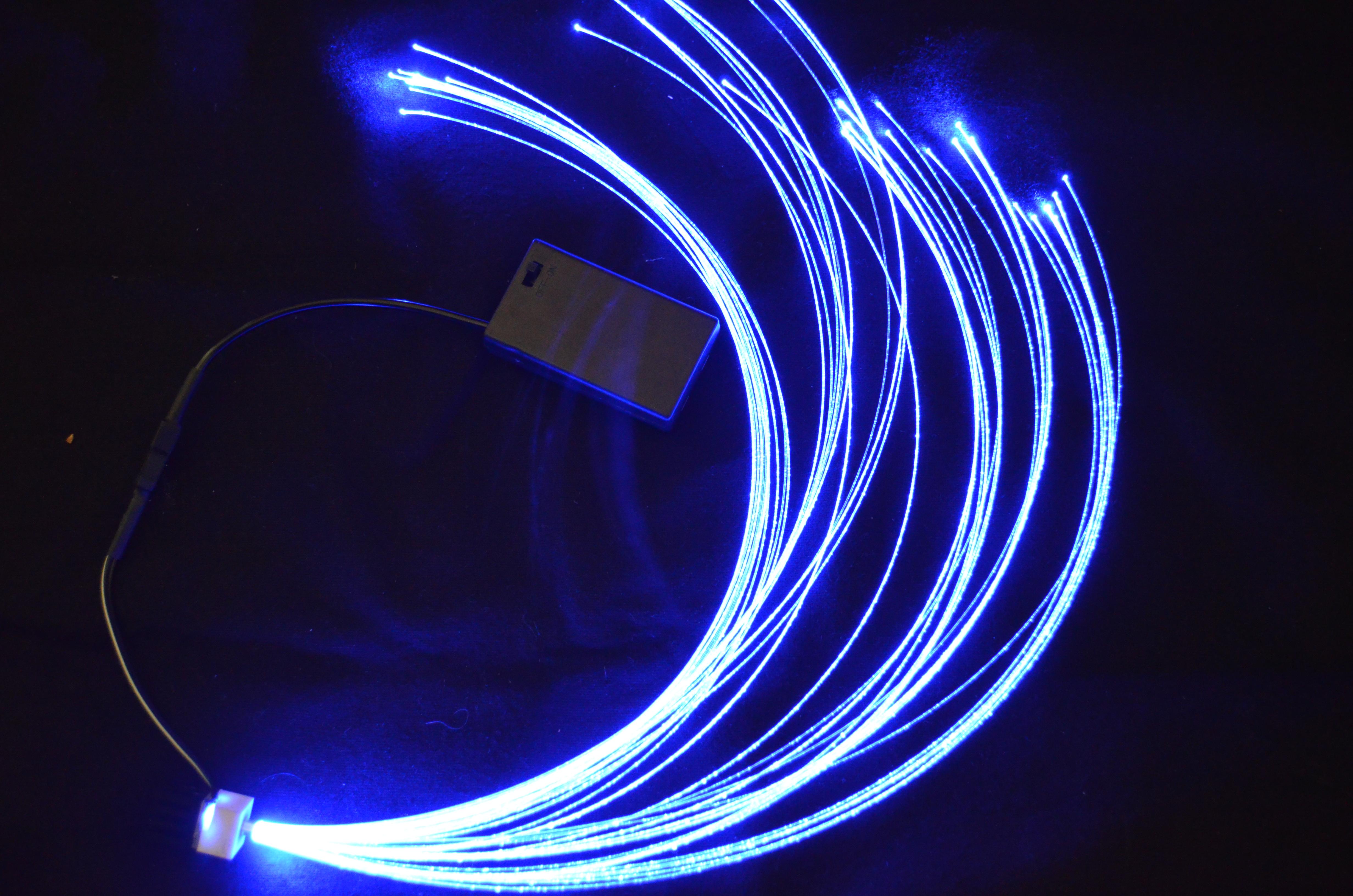Fibre optique connectée boitier pile