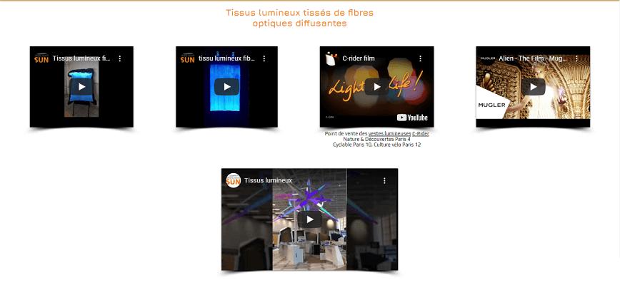 Les tissus lumineux en vidéo | MIDLIGHTSUN - Spécialiste en fibre optique lumineuse et tissus lumineux - fabrication française