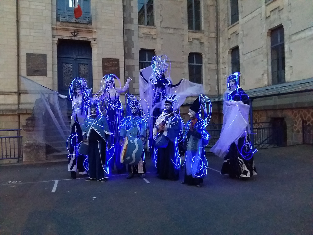 Costumes lumineux en fibre optique MIDLIGHTSUN