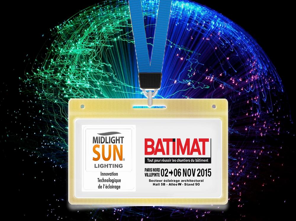 MIDLIGHTSUN -éclairage innovant - fibre optique diffusante - tissus lumineux /Salon Batimat