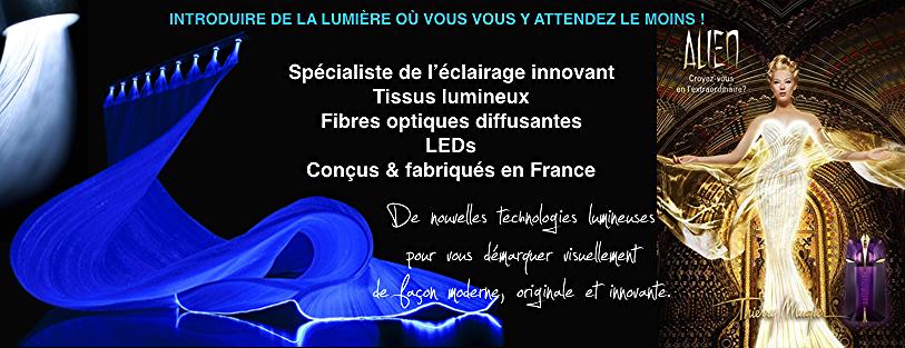 éclairage innovant par la fibre optique diffusante
