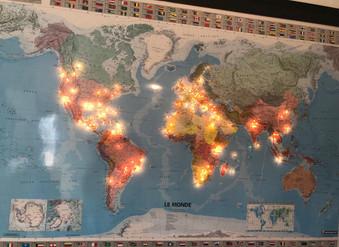 éclairage leds sans fil-carte géographique lumineuse MIDLIGHTSUN