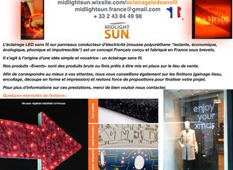 L'éclairage LED sans fil sur panneaux conducteur d'électricité-concept Français conçu et fabriqué en