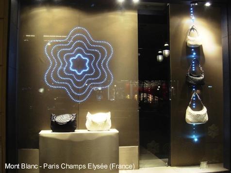 décoration lumineuse vitrine magasin