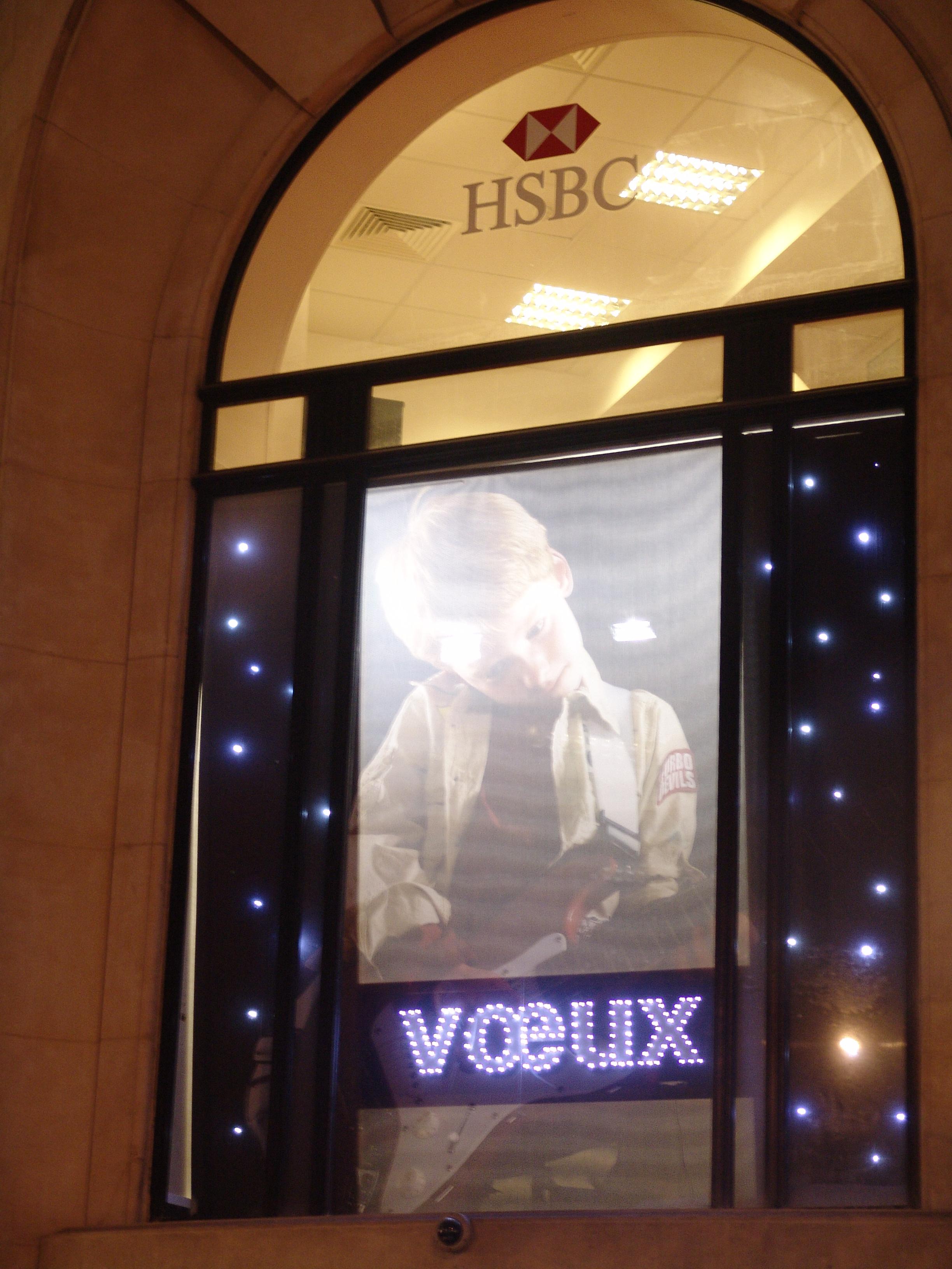 décoration de vitrine lumineuse