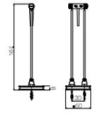 Dimension spot sans fil Héron  H167mm Ø50