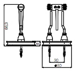 Dimension spot sans fil KIWI H683mm Ø50