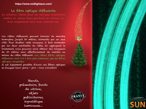 éclairage par fibre optique diffusante MIDLIGHTSUN