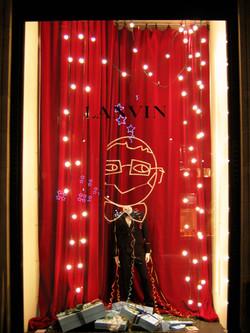 décoration lumineuse de vitrine