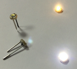 Micro LED blanc chaud