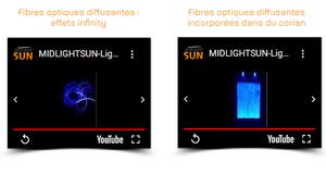Les vidéos de MIDLIGHTSUN | Fibre optique lumineuse et tissus lumineux |