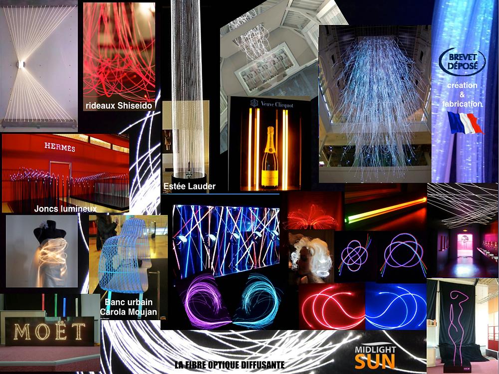 Décoration lumineuse par fibres optiques diffusantes MIDLIGHTSUN