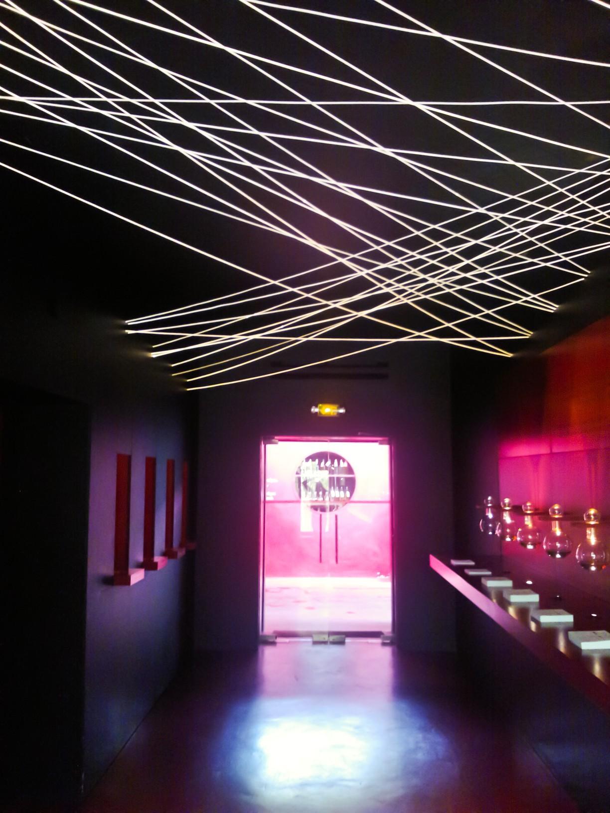 Faisceaux de fibre optique diffusant